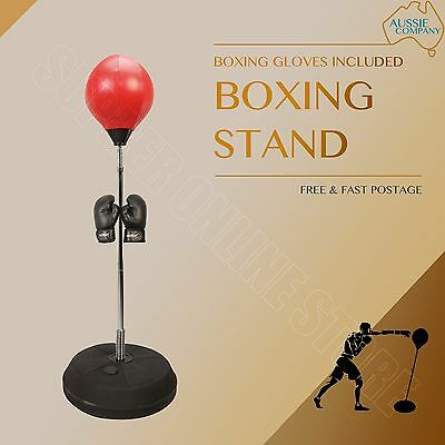 Boxing Stand Speed Ball MMA UFC MUAY THAI Punching Training Bag W/ Gloves Pump