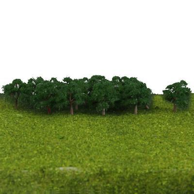25pcs Tree Model Train Park Wargame Diorama Scenery Landscape 4cm Jade Green