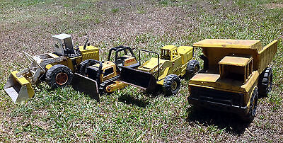 Lot of Vintage Large Steel Construction Toys, 3 x Tonka & 1 Muscle Machine(4563)
