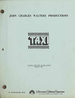 Taxi Script 1983 From the Estate of Sam Simon Simpsons