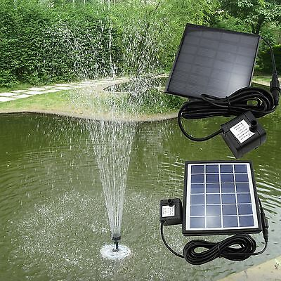 Solar Water Pump Power Panel Kit Fountain Garden Pool Pond Plants Watering HMT
