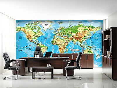 3D world map picture painting Wall Paper Print Decal Wall Deco Indoor wall Mural