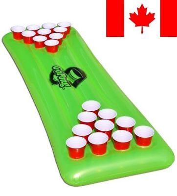 GoPong Pool Pong Table, Inflatable Floating Beer Pong Table, Includes 3 Pong Bal