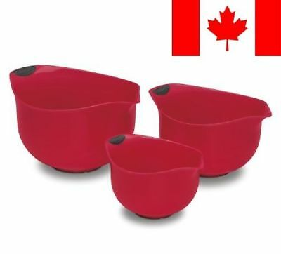 Cuisinart CTG-00-3MBRC Red Bowls, Set of 3