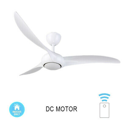 52'' Ceiling DC Fan White Black with Remote Control