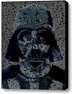 Star Wars Darth Vader Quotes Mosaic Incredible Framed 9x11 Inch Limited Edition
