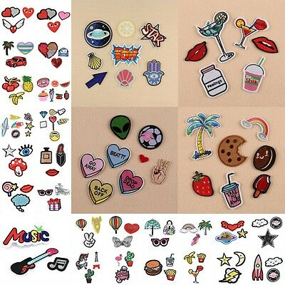 New 1 set Package Embroidery Iron On Patches Sewn Applique Logo DIY Clothes