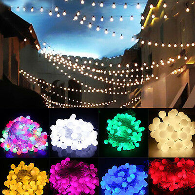New 100 LED 33ft/10m Globe String Lights Ball Fairy Light Wedding Party US Plug