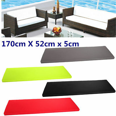 Outdoor Waterproof 2 Bench Swing Seat Cushion Garden Furniture Pad 4 color LE
