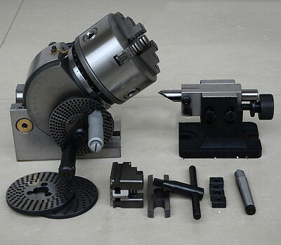 """Dividing Head BS-1 Precision 3 Jaw 6"""" Chuck& Tailstock &Dividing Plate Milling"""
