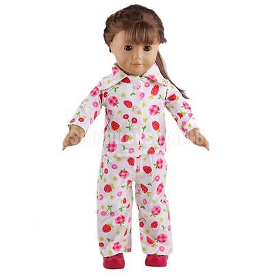 Cute Fruits Print Pajamas Sleepwear Clothes for 18 inch American Girl Doll