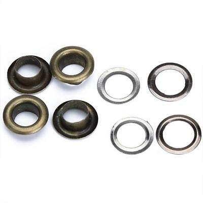 Wholesale 100pcs Round Antique Brass Eyelets Grommets Craft Kits10mm