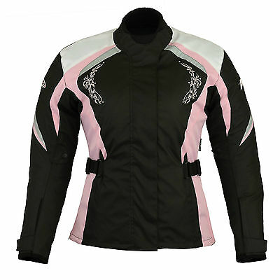 Women Motorcycle Motorbike Scooter Waterproof  Textile Ladies cordura Jacket .#