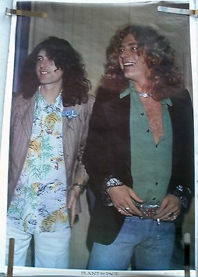 Rare Led Zeppelin Robert Plant Jimmy Page 1980 Vintage Original Music Poster