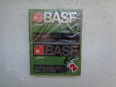 2-Pack Vintage Audio Cassette BASF Ferro Super LH I 60 * Rare From 1977 *