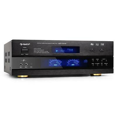 Mächtiger Auna Dj Pa Hifi Surround Amp-1500 Equalizer Dsp Effekte 1200W Power