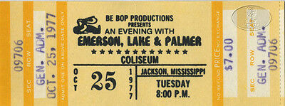 EMERSON LAKE & PALMER 1977 Unused Concert Ticket