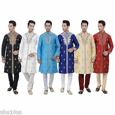 Ethnic Indian Designer Kurta Sherwani for Men's 2pc Suit - Worldwide Postage