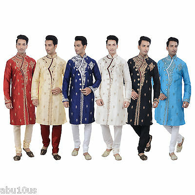 Indian Designer Kurta Sherwani for Men 2pc Suit - (Worldwide Postage)