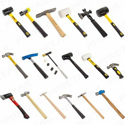 Claw Ball Pein Pin Rubber Hammers Mallets Axes Builder/Carpentry/Brick Hand Tool