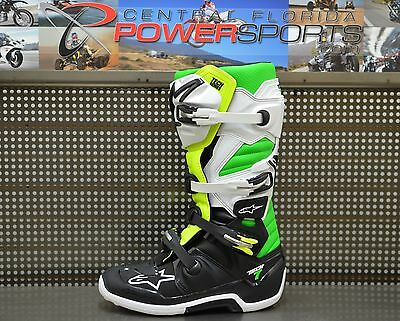 Alpinestars Tech 7 Limited Edition Vegas Black / Green MX Riding Boots Size 10