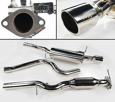 Stainless Steel Exhaust System High Flow Cat Ford Fiesta Mk6 2.0 St150 2005-2008
