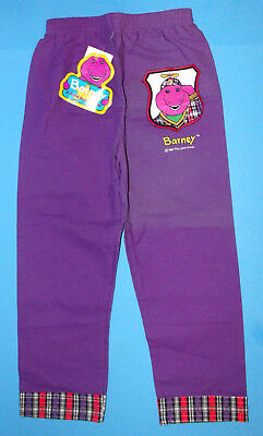 1992 Barney and Friends Purple Pants Size 4 Unused with Tags Lyons Group