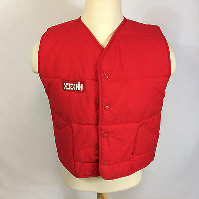 ViNtAgE MeNs IH International Harvester Tractor Farm Case Work Vest CoAt JaCkEt