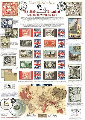 BC-352 British Empire Exhibition History of Britain 77 Business Smilers Sheet