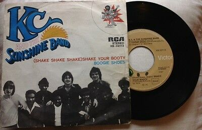 "KC & THE SUNSHINE BAND / SHAKE YOUR BOOTY - BOOGIE SHOES - 7"" (Italy 1976)"