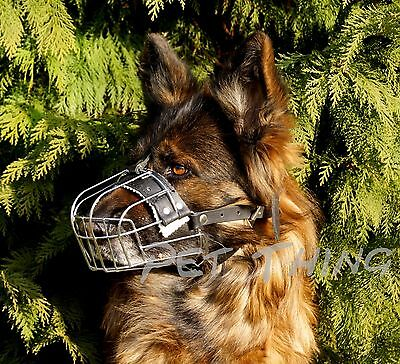 Metal Wire Basket Dog Muzzle For German Shepherd, Labrador, Alaskan Malamute