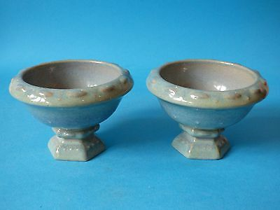 Attractive Pair Collectable Vintage Wade Staffs Pottery Urn Planter Pots Vases
