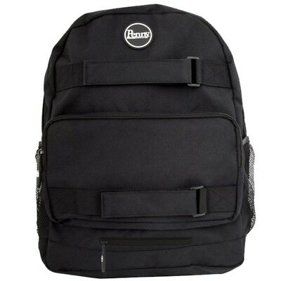 Genuine Penny Skateboards Pouch Backpack / Bag - All Black