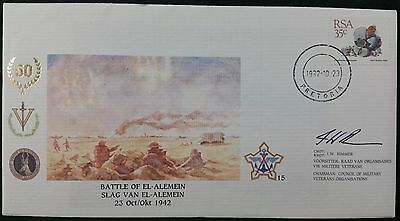Scarce South Africa RSA 1992 FDC Battle of El Alamein / Alemein,  Signed Rimmer