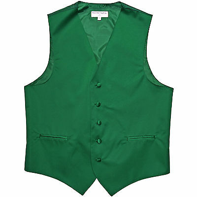 New polyester men's tuxedo vest waistcoat only wedding formal Emerald Green