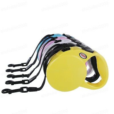 Strong Retractable Dog Pet Extendable Training Auto Lead Leash Head Collar Rope