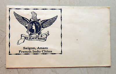 1920's-30's Cover for USS Blackhawk Saigon, Anam, French Indo China Excellent