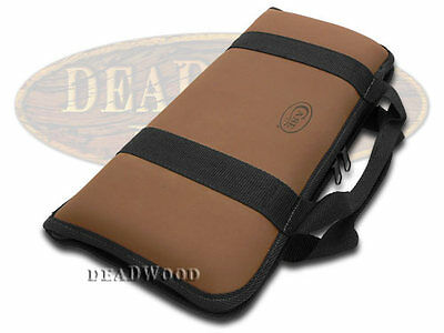 CASE XX Small Brown Leather and Cotton Knife Carrying Case for Pocket Knives