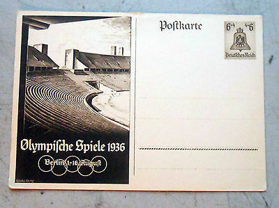 Original Period Postcard for the 1936 Olympic Summer Games in Berlin. Excellent