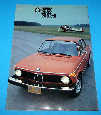1976 BMW 2002 and 2002 tii Fold Out Sales Brochure