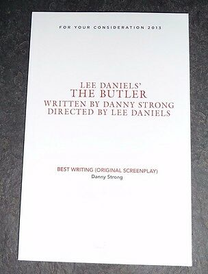 Lee Daniels' THE BUTLER Script FOR YOUR CONSIDERATION Best Original Screenplay