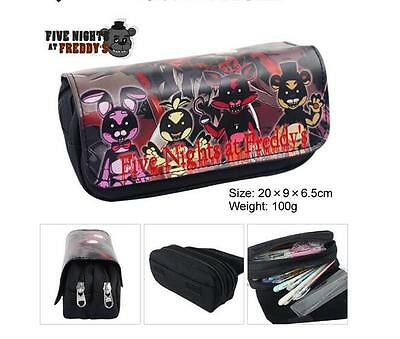 FNAF Five Nights at Freddy's Canvas&Pu Kids Student Supplies pencil case Bag