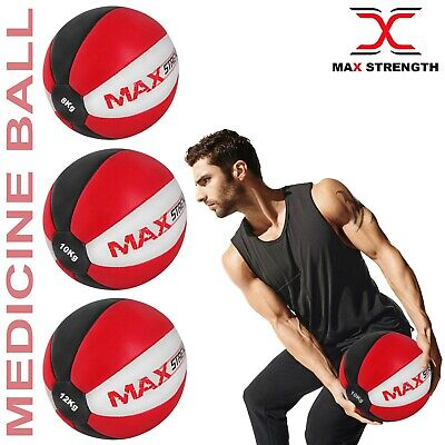 Medicine Ball Heavy Duty Rex Leather 3kg 5kg 8kg Fitness Gym Exercise Aerobics
