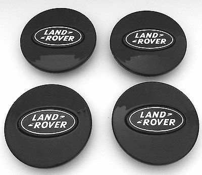 4x Alloy Wheel Center Caps ALL BLACK 63mm Land Rover Evoque Sport Vogue Hse Hst