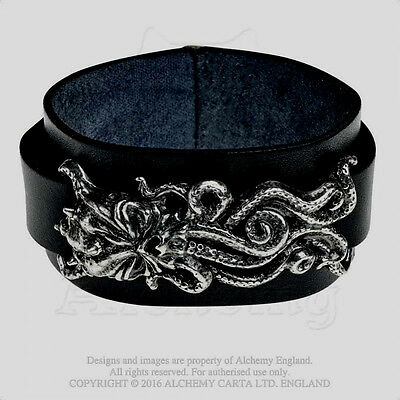 Alchemy Gothic 'CTHULHU RISING' WRISTBAND. Lovecraft Call of. Impressive NEW