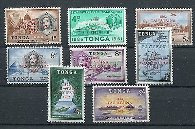 Tonga QEII 1962 Emancipation overprint set of 8 SG120/27 MNH