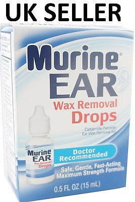 Murine Ear Drops MAXIMUM STRENGTH For Earwax Removal Blocked Wax Remover