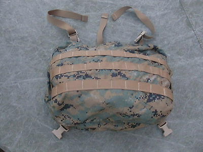 USMC MARPAT ILBE Arcteryx Mainpack GEN 2 Lid (2-sided Molle) w/radio pouch - VG