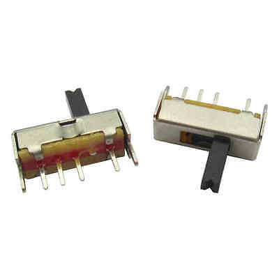 20PCS SS13D07 Slide Switch 1P3T 4Pin W/ Handle 6mm 3 position f DIY Electronic