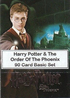 Harry Potter & The Order Of The Phoenix  - 90 Card Basic/Base Set #1-90 (2007)